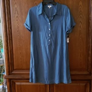 NWT Crown & Ivy chambray dress with dropped waist